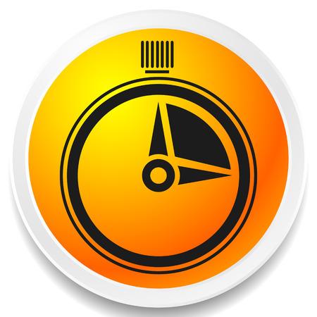 Minuterie, icône du chronomètre. Urgence, délai d'exécution, concepts de calendrier
