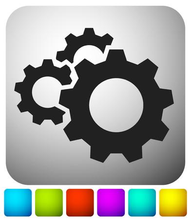 Engrenage, icône de roue dentée. Réparation, entretien, icône de concept de mécanique