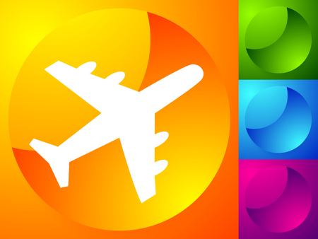 Airplane, airline, aircraft icon. Icon for flight themes Ilustração