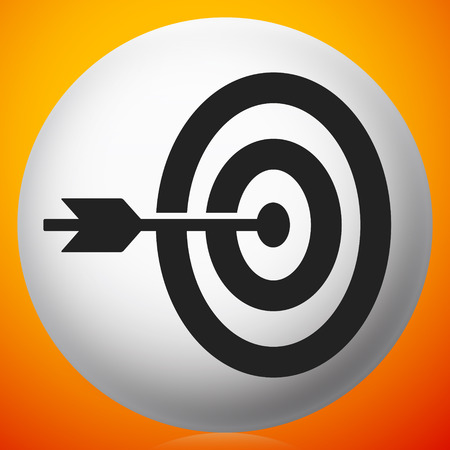 Arrow hitting target at center icon, Precision, accuracy icon