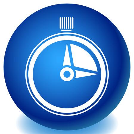 Timer, icona del cronometro. Urgenza, tempi di consegna, concetti di pianificazione Vettoriali