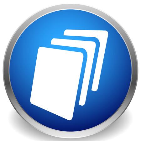 Blattsymbol, Blatt Papier oder anderes Material