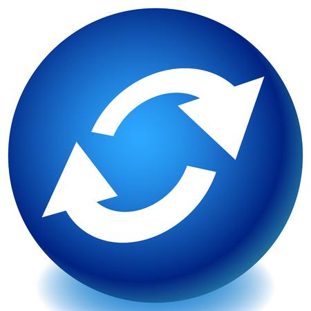 Swap, flip icon. Circular, oval arrows icon Vektorové ilustrace