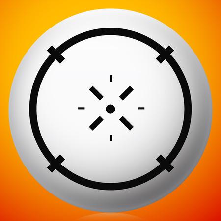 Cross-hair icon. Precision, accuracy, efficency concept icon Stock Vector - 124614291