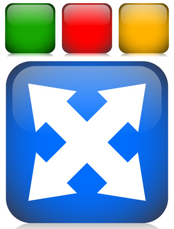 4-way arrow as expand, resize, adjustment, alignment icon