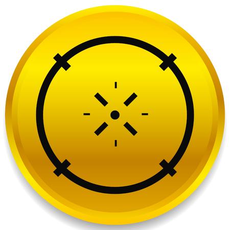 Cross-hair icon. Precision, accuracy, efficency concept icon Stock Vector - 124614322