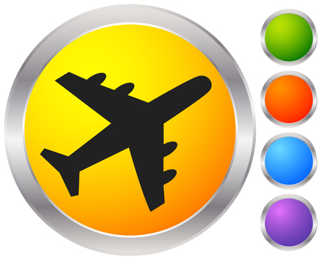 Airplane, airline, aircraft icon. Icon for flight themes Illustration