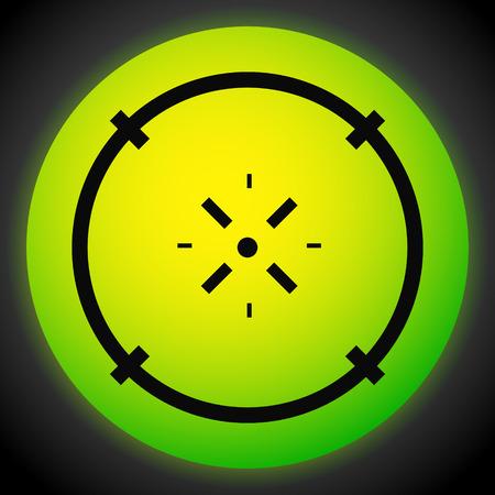 Cross-hair icon. Precision, accuracy, efficency concept icon Stock Vector - 124614339