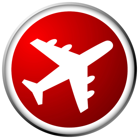 Airplane, airline, aircraft icon. Icon for flight themes 向量圖像