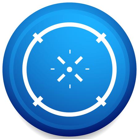 Cross-hair icon. Precision, accuracy, efficency concept icon Stock Vector - 124614356