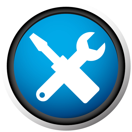 Crossed screwdriver, wrench icon. Repair, maintance, assembly concept icon Ilustracja