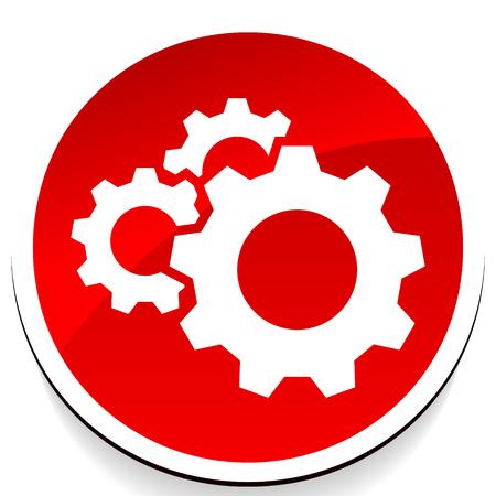 Zahnrad, Zahnradsymbol. Symbol für Reparatur, Wartung, Mechanikkonzept