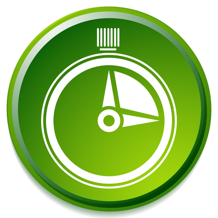 Timer, stopwatch icon. Urgency, turnaround time, schedule concepts