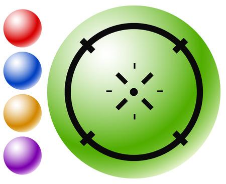 Cross-hair icon. Precision, accuracy, efficency concept icon Stock Vector - 124614410