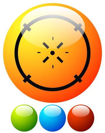 Cross-hair icon. Precision, accuracy, efficency concept icon Stock Vector - 124614417