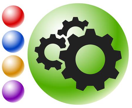 Gear, cogwheel icon. Repair, maintance, mechanics concept icon Illustration