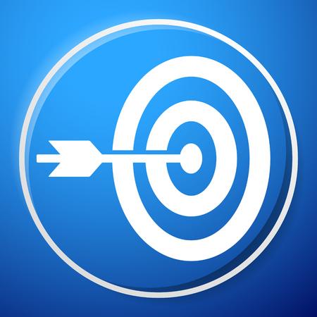 Arrow hitting target at center icon, Precision, accuracy icon