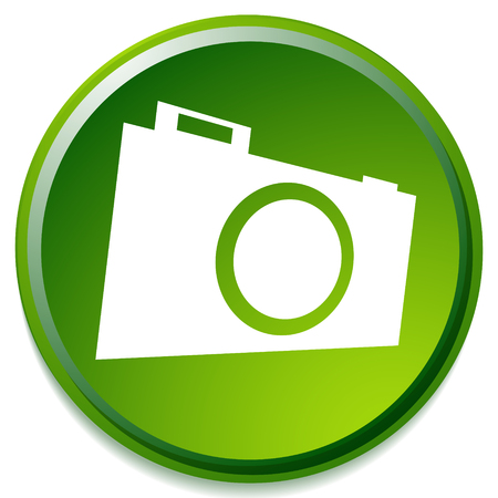 Small photo camera icon. Hobby photography concept icon