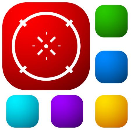 Cross-hair icon. Precision, accuracy, efficency concept icon Stock Vector - 124614461