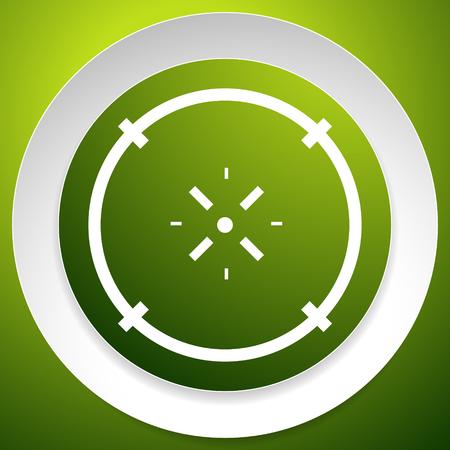 Cross-hair icon. Precision, accuracy, efficency concept icon Stock Vector - 124614475