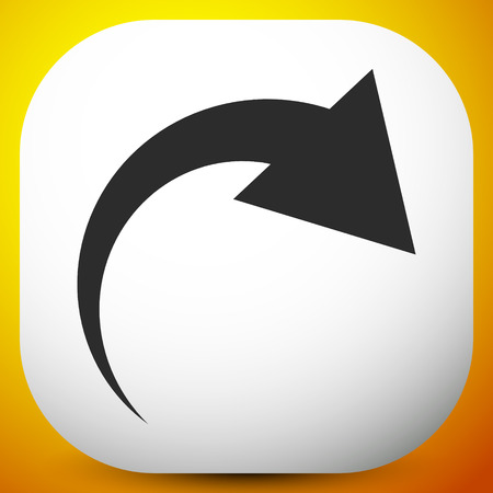 Icon with curved arrow. Fold, twist, rotate concept icon Reklamní fotografie - 118511662