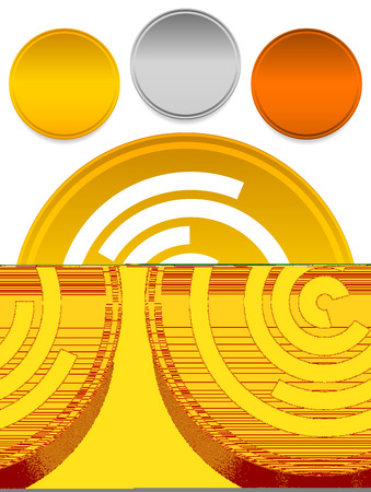 Concentric random circles icon. Ripple effect, cyclical radial lines icon