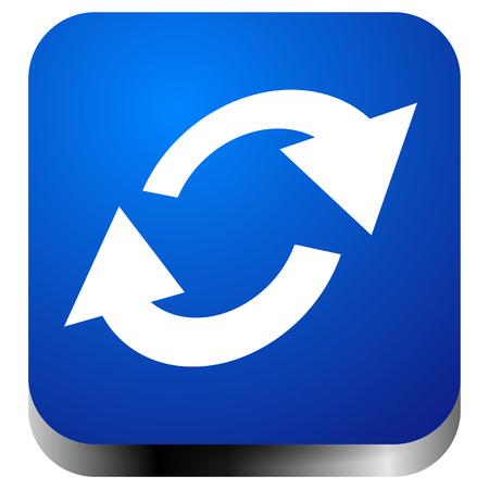 Swap, flip icon. Circular, oval arrows icon Vettoriali