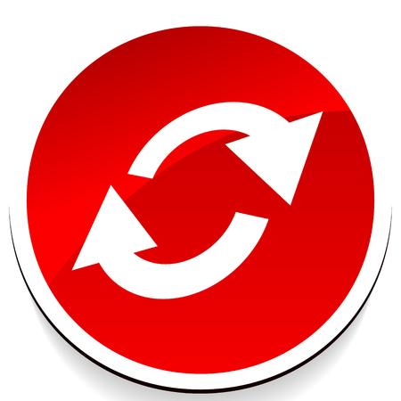 Échangez, retournez l'icône. Icône de flèches circulaires et ovales