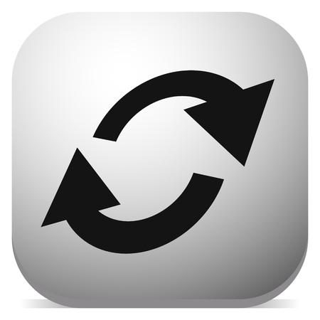 Tauschen, Flip-Symbol. Kreisförmiges, ovales Pfeilsymbol