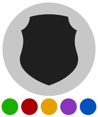 Icône avec forme de bouclier classique. Protection, sécurité, certificat, icône de concept de garantie