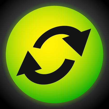 Swap, flip icon. Circular, oval arrows icon Stock Illustratie