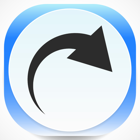 Icon with curved arrow. Fold, twist, rotate concept icon Reklamní fotografie - 124614689