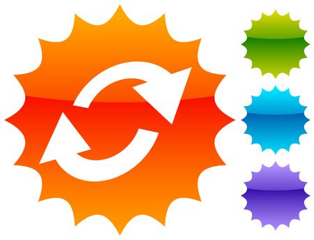 Swap, flip icon. Circular, oval arrows icon Иллюстрация