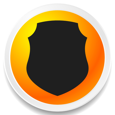 Icon with classic shield shape. Protection, security, certificate, warranty concept icon