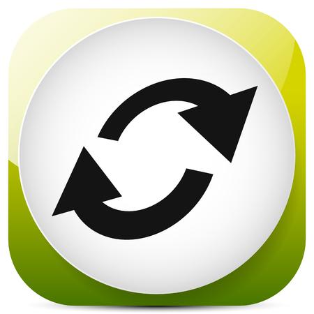 Swap, flip icon. Circular, oval arrows icon Ilustração