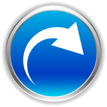 Icon with curved arrow. Fold, twist, rotate concept icon Reklamní fotografie - 124614842
