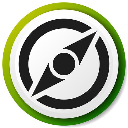 Icône avec symbole de boussole. Guidage, exploration, concepts de navigation
