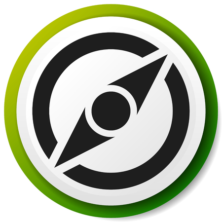 Icon with compass symbol. Guidance, exploration, navigation concepts