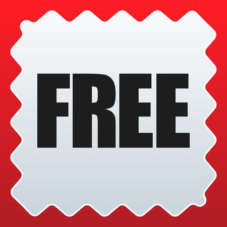 Icon with FREE label. Bonus, gratis icon
