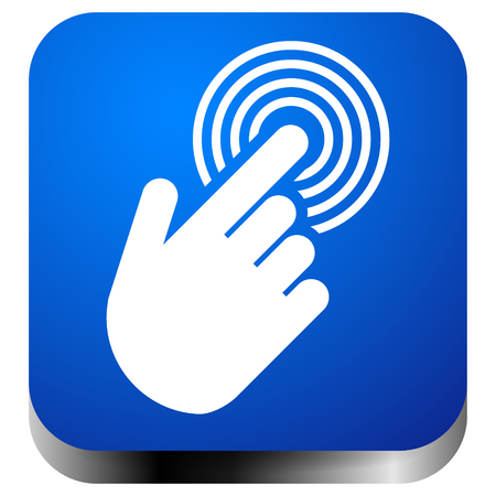 Tapping touchscreen on interface, mobile phone, icon