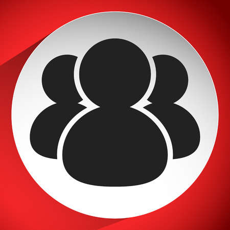Icon with figures symbol. Character, avatar icon