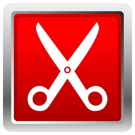 Icon with scissors symbol. Barber, hairdresser concept icon