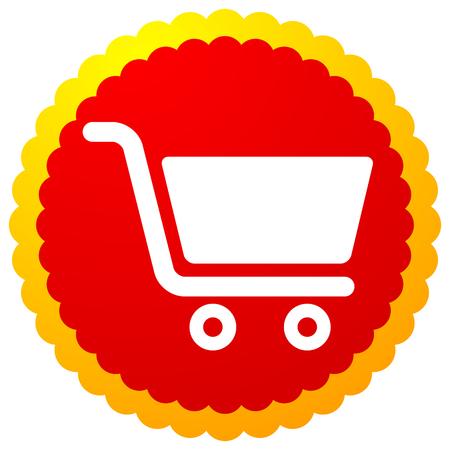 Icône avec symbole de panier d'achat. E-commerce, icône de paiement de la boutique en ligne