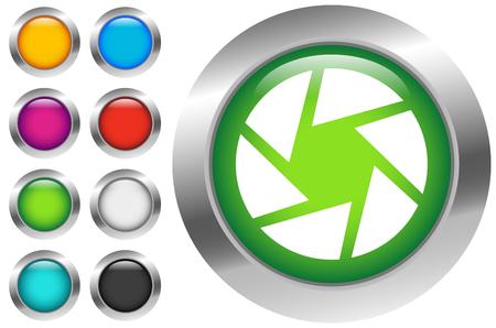 Symbol für das Kameraobjektiv. Fotografie, Membrankonzept-Symbol Vektorgrafik