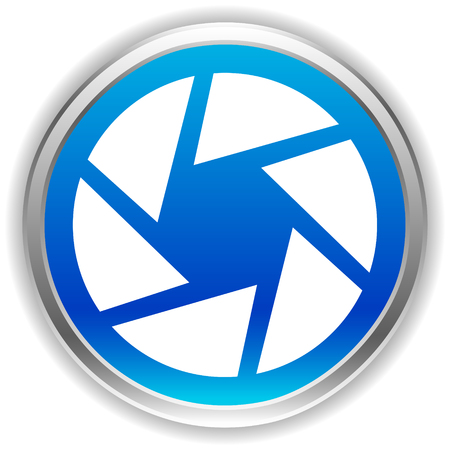 Camera lens icon. Photography, diaphragm concept icon