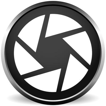 Symbol für das Kameraobjektiv. Fotografie, Membrankonzept-Symbol