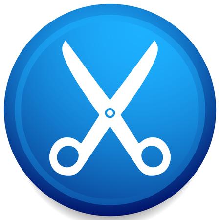 Icon with scissors symbol. Barber, hairdresser concept icon Vektorové ilustrace
