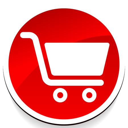 Symbol mit Einkaufswagensymbol. E-Commerce, Online-Shop-Checkout-Symbol