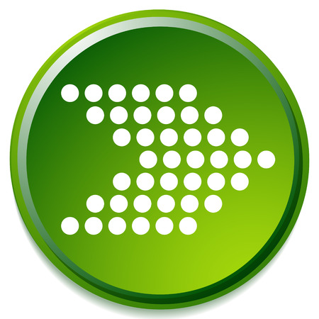 Icon, button with dotted arrow symbol. Right arrow