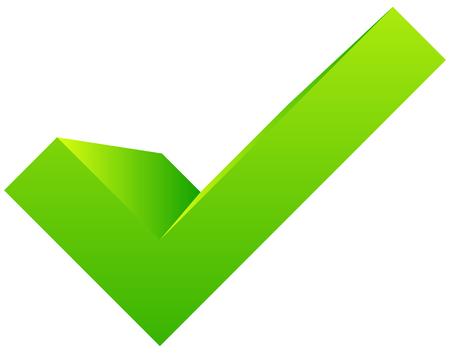 3d checkmark, tick icon. Approve, verify, validation concepts icon 矢量图片